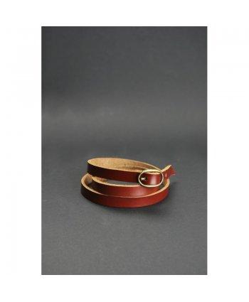 Браслет лента с пряжкой коньяк - BlankNote