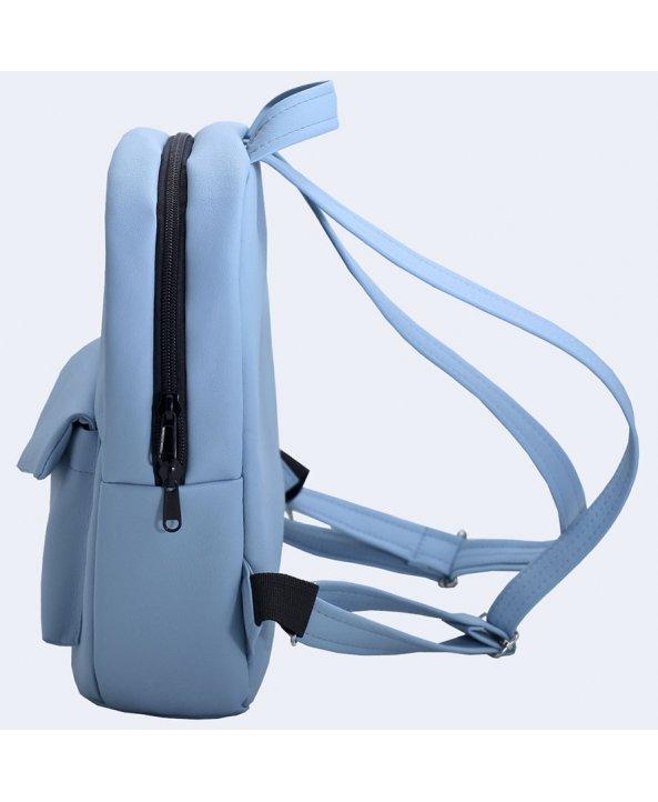 842d389441ea Голубой кожаный рюкзак - Twins Store   Интернет-магазин украинских ...
