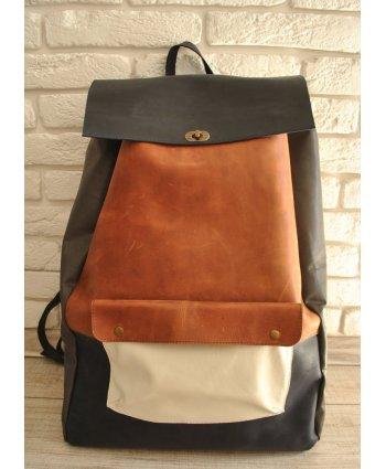 Кожаный рюкзак на поворотном замке Backpack L - EasyEasy