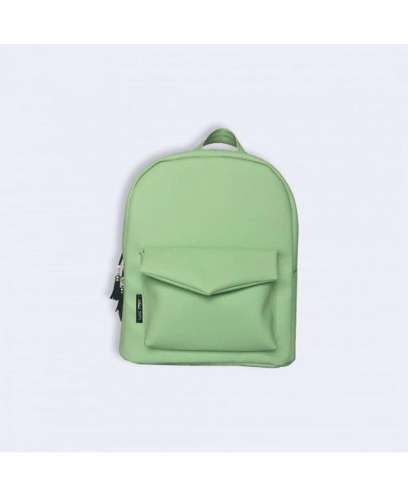 7b937d8c1811 Мятный кожаный рюкзак - Twins Store   Интернет-магазин украинских ...