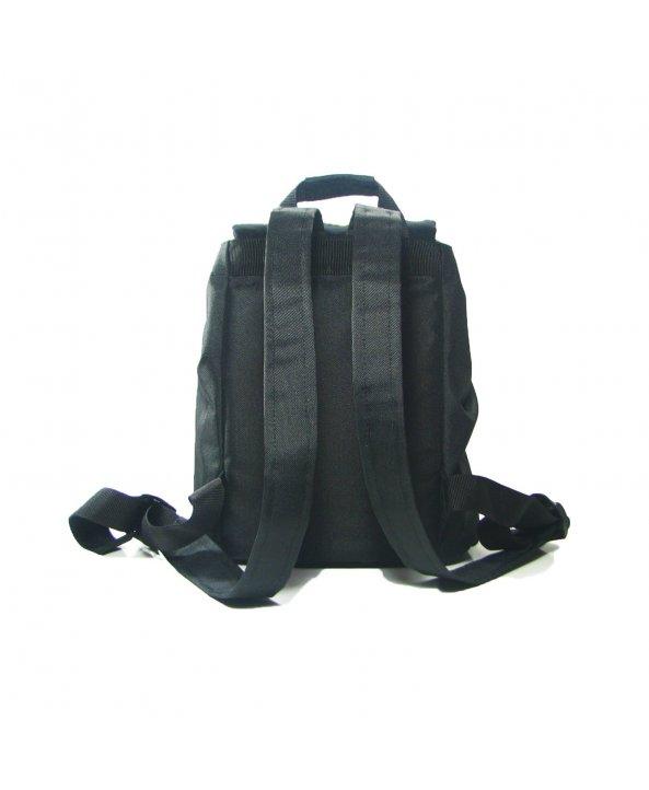 Черный рюкзак с зигзагами small - TWINS STORE