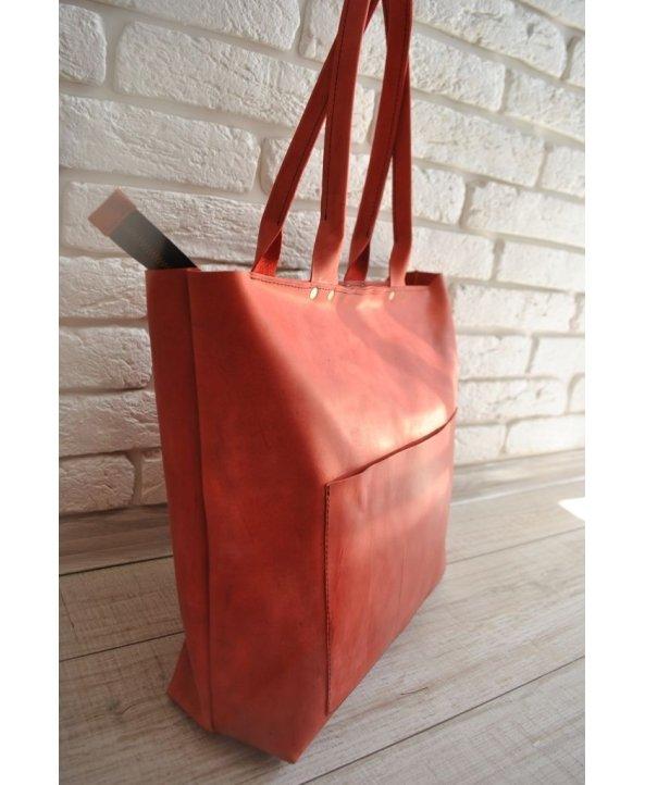 Кожаная сумка Big Red - EasyEasy