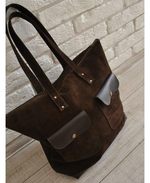 """Кожаная сумка """"Brown Bag""""- EasyEasy"""