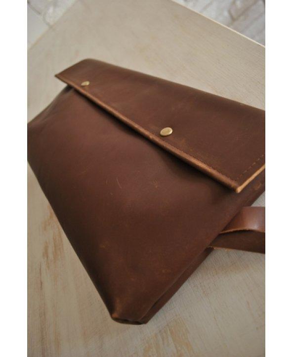 Женский коричневый клатч - EasyEasy