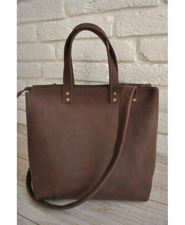 """Кожаная сумка """"Brown76"""" - EasyEasy"""