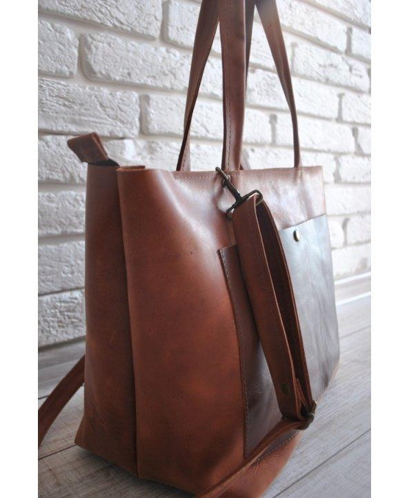 "Кожаная сумка ""Cacao Bag"" - EasyEasy"