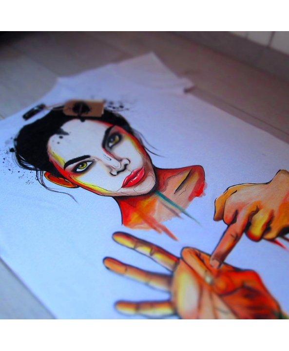 """Дизайнерская футболка """"girl"""" - Zacerkovnaya"""
