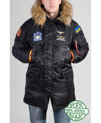 Зимняя парка Аляска N-3B Slim Fit Нейлон (нашивки) - Olymp