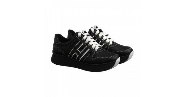 Чорні шкіряні кросівки на високій підошві om-03 - Villomi  84bc04096d51b