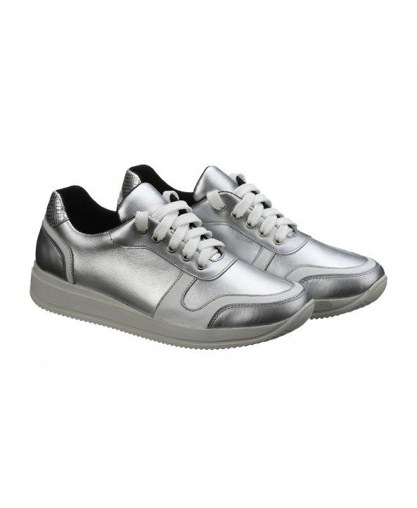 Срібні кросівки з натуральної шкіри - Villomi ... 22d9949b9c280