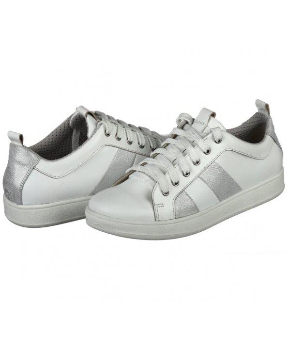 ... Шкіряні білі кросівки з натуральної шкіри - Villomi ... 4ccf8b8dcb94d