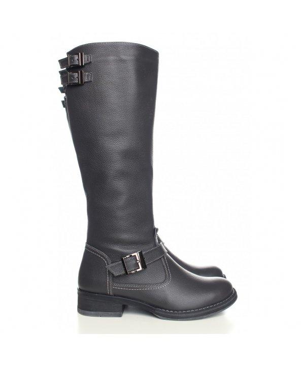 Зимові чоботи сірого кольору з натуральної шкіри - Villomi ... 25473d7f95d0f
