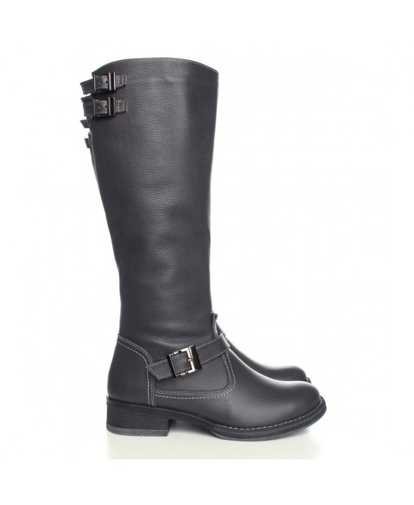 ... Зимові чоботи сірого кольору з натуральної шкіри - Villomi ... ed799727d2317