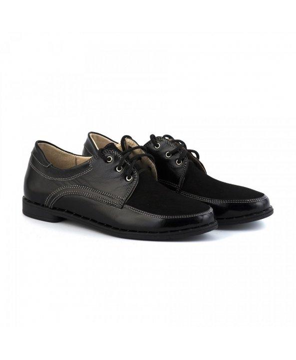 Жіночі шкіряні туфлі чорного кольору - Villomi ... f503667ad34a7